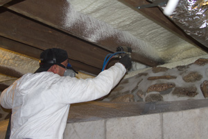 Spray foam insulation in Garner